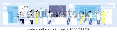Naukowiec eksperyment laboratorium ilustracja medycznych technologii Zdjęcia stock © colematt