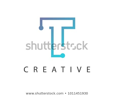 letter t tech icon logo vector sign design Stock photo © blaskorizov