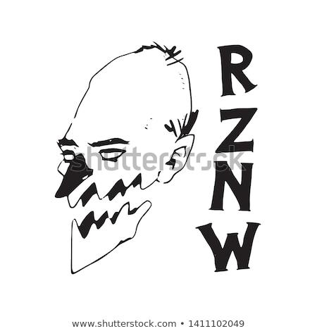 letter z or n man logo icon vector Stock photo © blaskorizov