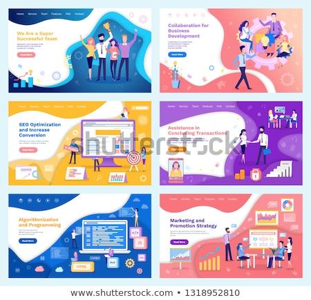 Promoção rede programação vetor seo otimização Foto stock © robuart