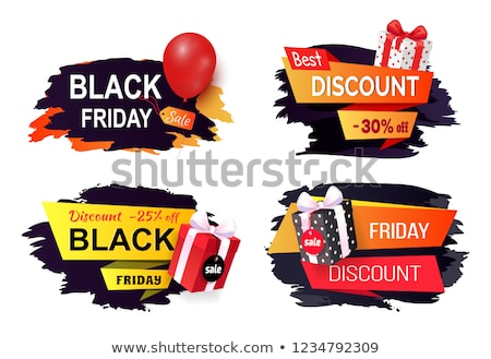 Stockfoto: Black · friday · verkoop · reclame · badges · ballon