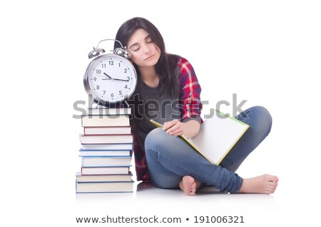 femme · étudiant · manquant · isolé · blanche - photo stock © elnur