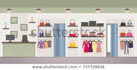 Shopping donna borse marca boutique vettore Foto d'archivio © robuart