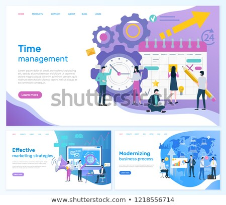 Time Management, Marketing or Modernizing Business Stock photo © robuart