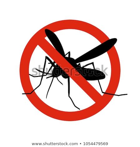 flat design icon of mosquito spray stock photo © angelp
