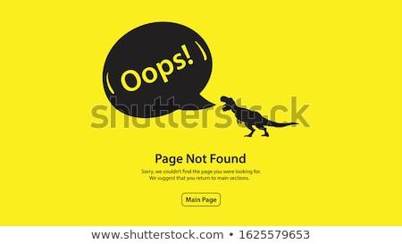 Erro 404 página moderno colorido isométrica Foto stock © Decorwithme