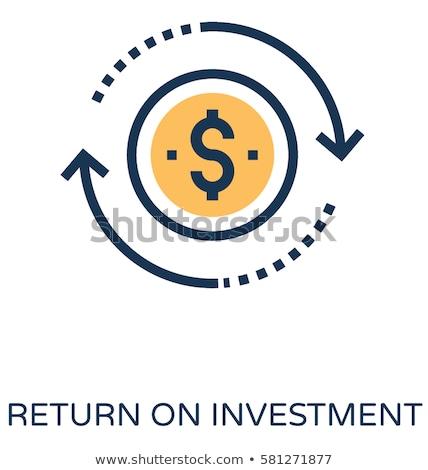 возврат инвестиции икона тонкий линия дизайна Сток-фото © angelp