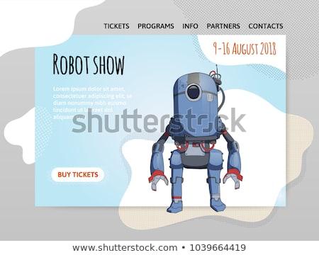moderno · robô · arma · futurista · pistola - foto stock © rastudio