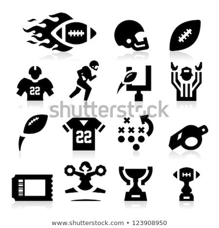 Americano fútbol silbar icono sombra reflexión Foto stock © angelp