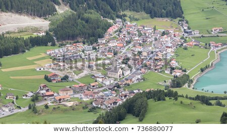 Beautiful view on the village of Reshen, the Alps Stock photo © michaklootwijk