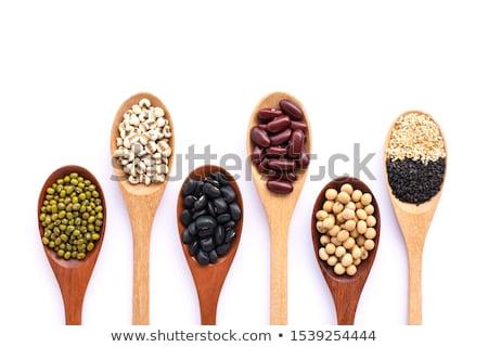 Semillas grano cuchara blanco alimentos Foto stock © Melnyk
