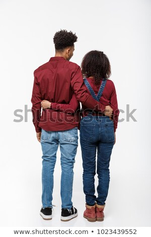 Man and Woman Dating Back View. People in Casual Stock photo © robuart