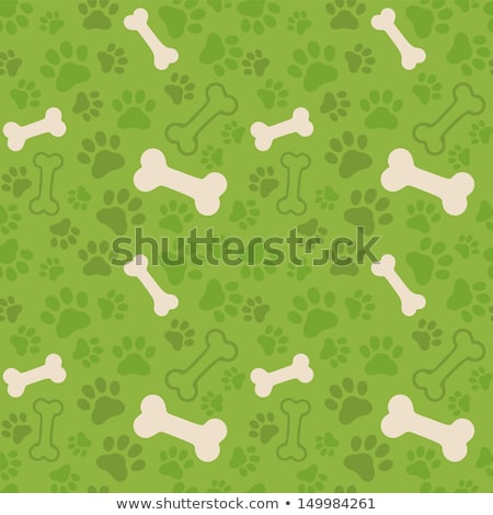 background with dog paw print and bone stock photo © lemony