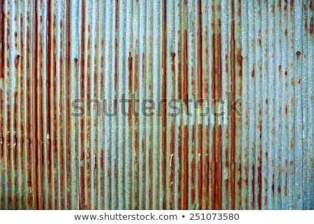 Roof rusty corrugated iron metal texture Stock photo © boggy