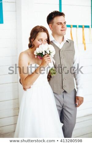 An düğün gün damat gelin birlikte Stok fotoğraf © dariazu