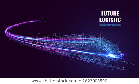 technology low poly mesh lines background Stock photo © SArts