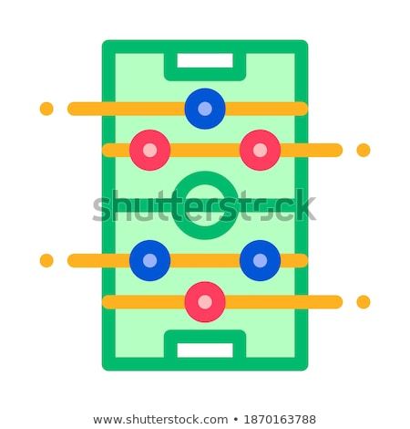 interactive kids board game vector thin line icon stock photo © pikepicture