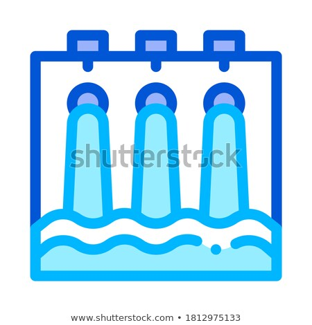 Water hydraulisch engineering station vector icon Stockfoto © pikepicture