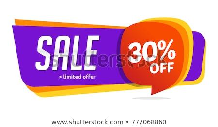 En iyi indirim 30 yüzde ayarlamak afişler Stok fotoğraf © robuart