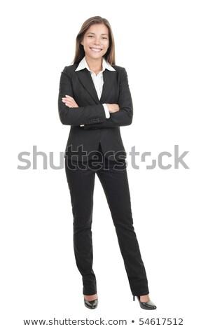 Schoonheid jonge vrouw portret geïsoleerd witte mooie Stockfoto © serdechny