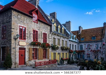 Quebec stad beroemd mijlpaal kerk plaats Stockfoto © Lopolo
