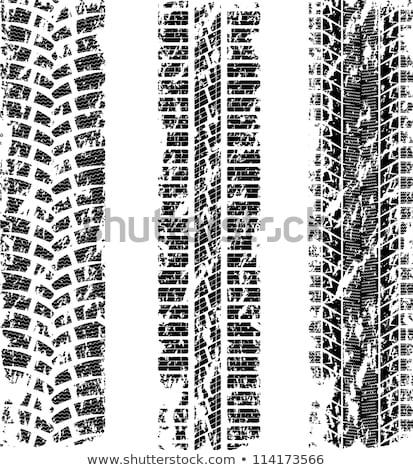 yellow tire track print mark background design Stock photo © SArts