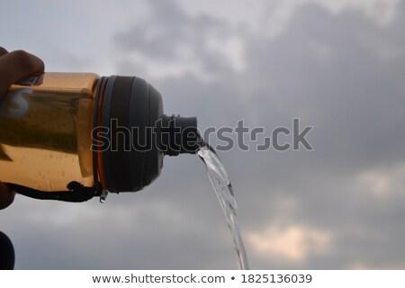Woda mineralna charakter nadzienie butelki pić wodospad Zdjęcia stock © tilo