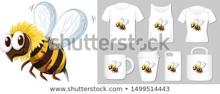 Gráfico mel de abelha diferente produto modelo ilustração Foto stock © bluering
