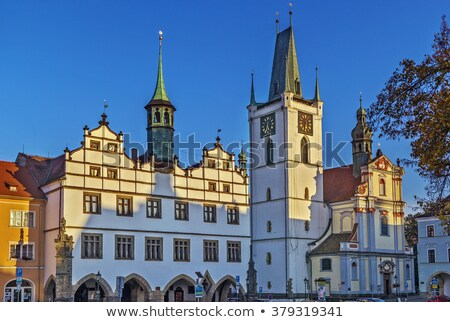 Cathédrale République tchèque principale carré ciel construction Photo stock © borisb17