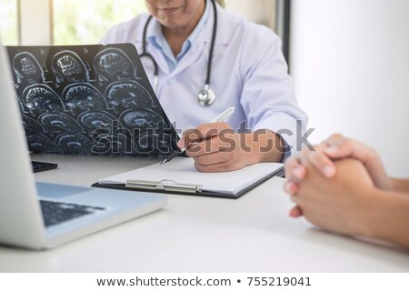 professor doctor report and recommend a method with patient trea stock photo © freedomz