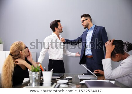 Executive Shouting At His Worker For Bad Performance Stock photo © AndreyPopov