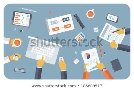 Corporate flusso di lavoro team building comunicazione business Foto d'archivio © RAStudio