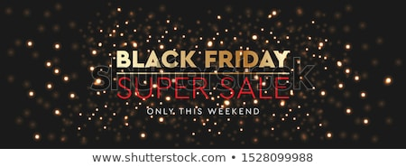 Black Friday Sale. Background bright glare of golden blurred lights, vector illustration. Stock photo © ikopylov