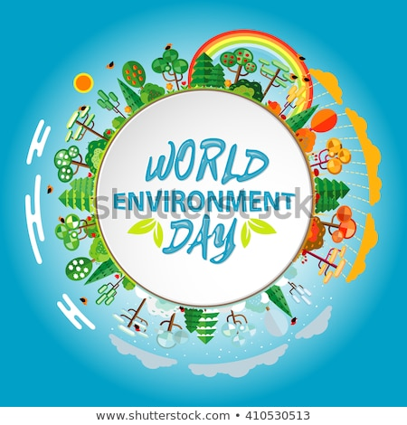 Environment Day card of green technology concept Stock photo © cienpies