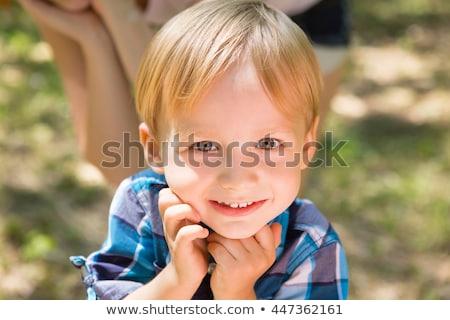 Portré aranyos kicsi fiú gyermek kint Stock fotó © Lopolo