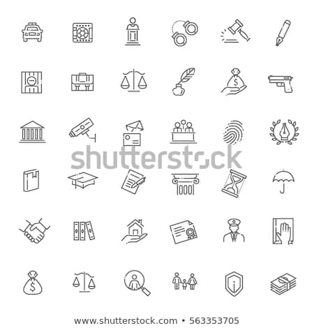 Law And Judgement Collection Icons Set Vector Stock photo © pikepicture