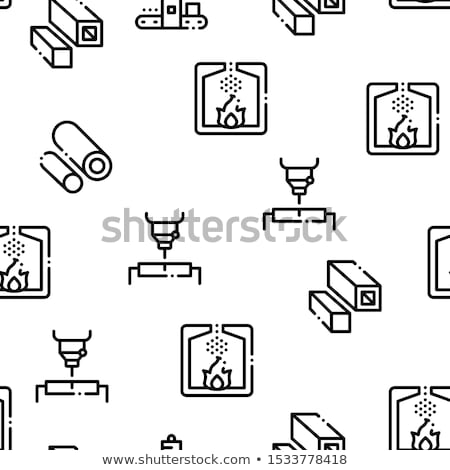 Metallurgical Seamless Pattern Vector Stock photo © pikepicture