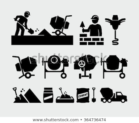 carro · equipamento · construção · trabalhar · isolado · branco - foto stock © robuart