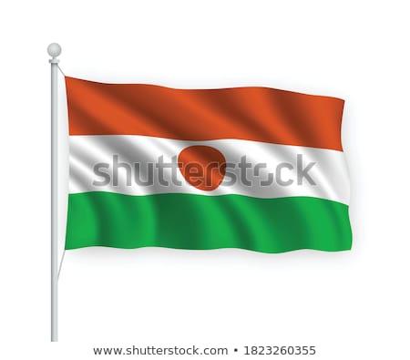 Niger zászló fehér Föld Afrika nyomtatott Stock fotó © butenkow
