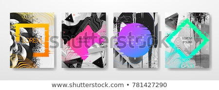 Set of trendy colorful posters - memphis style, retro design wit Stock photo © ExpressVectors