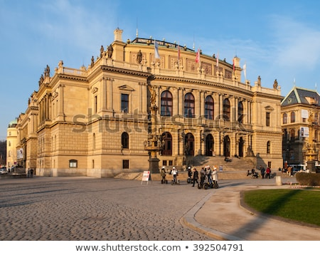 Historic column in the city of Prague Stock photo © manfredxy