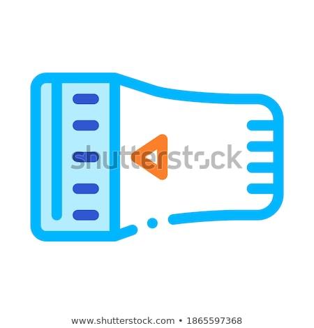 Temperatuur radiator detail vector icon dun Stockfoto © pikepicture