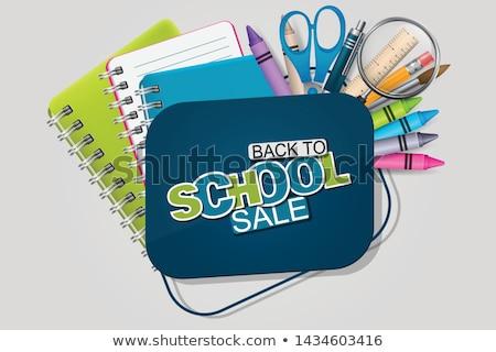 Снова в школу продажи дизайна красочный карандашом щетка Сток-фото © articular