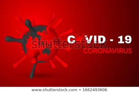 Koronawirus 3d ilustracji wirusa jednostka świat wektora Zdjęcia stock © olehsvetiukha