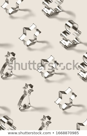 Stałego ze stali nierdzewnej wzór cookie Zdjęcia stock © artjazz