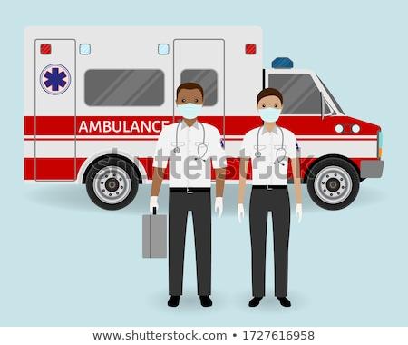 Sanitariusz pracownika zespołu pomoc ktoś medycznych Zdjęcia stock © Lopolo