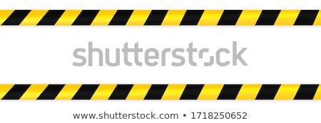 coronavirus covid-19 do not cross yellow tape background Stock photo © SArts