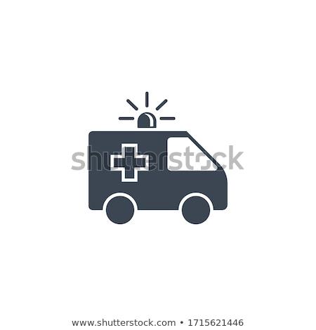 Ambulance auto vector icon geïsoleerd witte Stockfoto © smoki