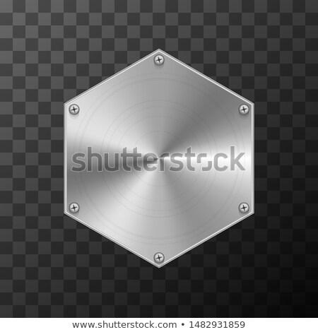 金属 産業 プレート 六角形 ストックフォト © evgeny89
