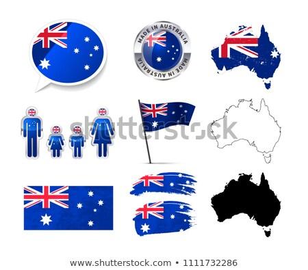 Grande conjunto Austrália infográficos elementos bandeiras Foto stock © evgeny89